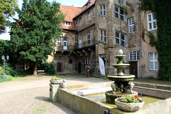 Blick in den Innenhof des Schlosses in Petershagen