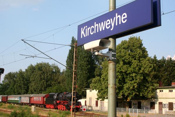 Museumslok im Kirchweyher Bahnhof