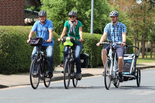 Es gibt Radtouren für die ganze Familie