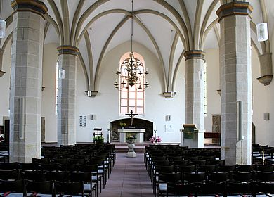 Innenansicht der Petrikirche Petershagen
