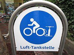 Lufttankstelle für Fahrräder