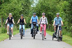Eine Radtour mit Freunden