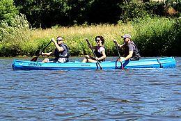 Kanutour auf der Weser