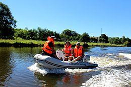Motorbootfahrt auf der Weser