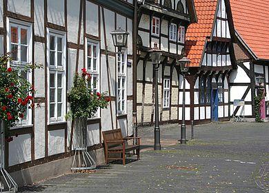 Fachwerkhäuser auf dem Kirchplatz