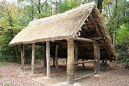 Altsachsenhütte am sächsischen Gräberfeld Liebenau-Steyerberg