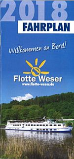 Fahrplan Flotte Weser 2018