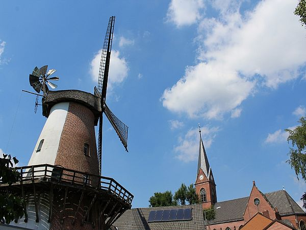 Windmühle in Petershagen-Lahde