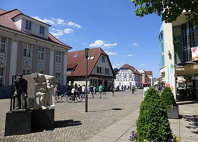 Fußgängerzone Obernstraße in Achim