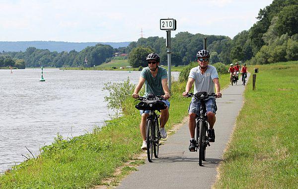 Radtour an der Weser