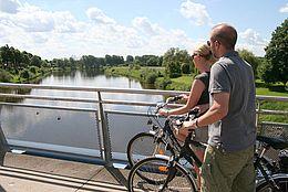 Der Weser-Radweg in Nienburg