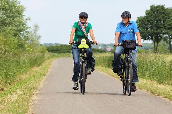 Radtour auf dem Weser-Radweg